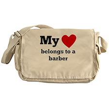 My Heart Belongs To A Barber Messenger Bag