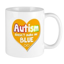Autism Doesnt Make Me Blue Heart Mugs