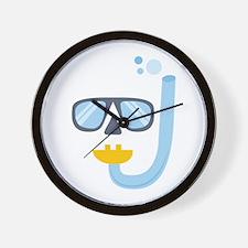 Snorkel Gear Wall Clock