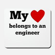 My Heart Belongs To An Engineer Mousepad