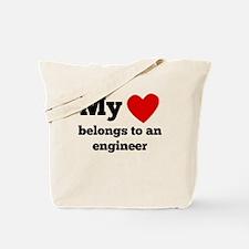 My Heart Belongs To An Engineer Tote Bag