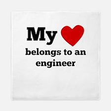 My Heart Belongs To An Engineer Queen Duvet