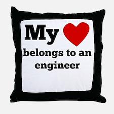 My Heart Belongs To An Engineer Throw Pillow