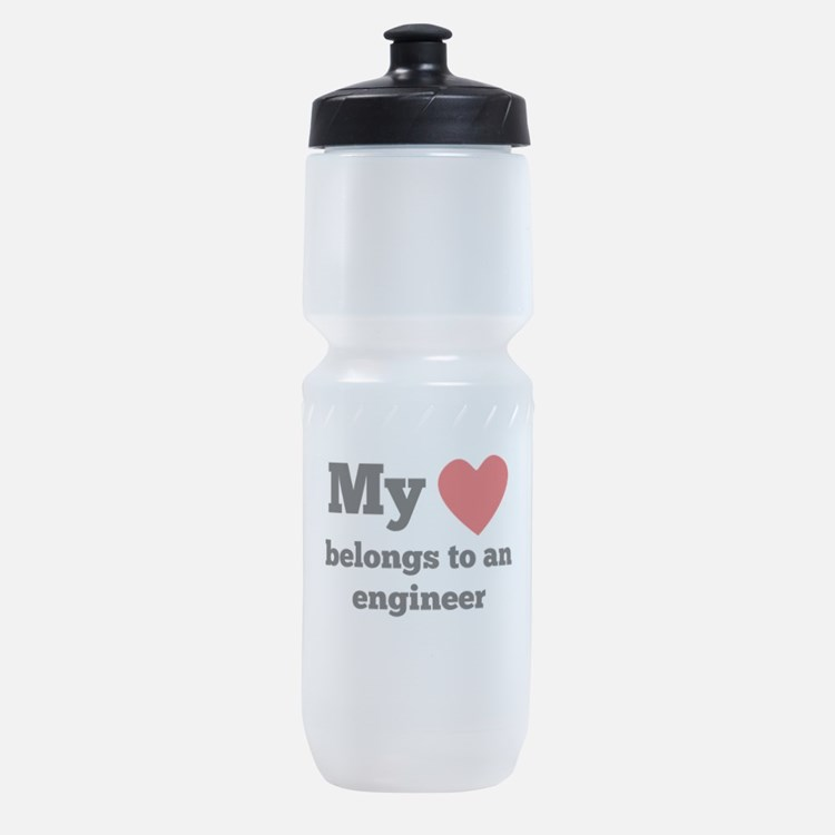 My Heart Belongs To An Engineer Sports Bottle