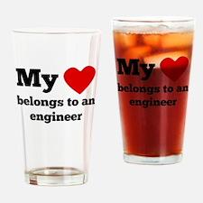 My Heart Belongs To An Engineer Drinking Glass