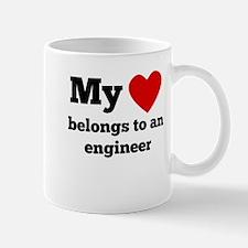 My Heart Belongs To An Engineer Mugs