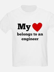 My Heart Belongs To An Engineer T-Shirt