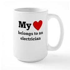My Heart Belongs To An Electrician Mugs