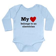 My Heart Belongs To An Electrician Body Suit