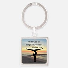 BLESSED GYMNAST Square Keychain