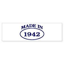 Made in 1942 Bumper Bumper Sticker
