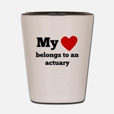 My Heart Belongs To An Actuary Shot Glass