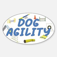 Dog Agility Oval Decal