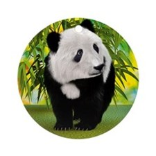 Panda Bear Cub Ornament (Round)