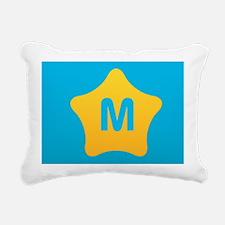 Bright Star Monogram Rectangular Canvas Pillow