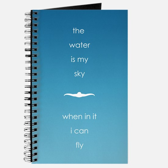 water is my sky square circle Journal