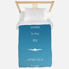 water is my sky square circle Twin Duvet