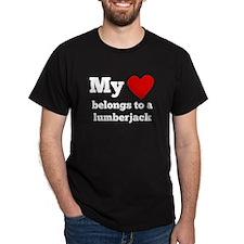 My Heart Belongs To A Lumberjack T-Shirt