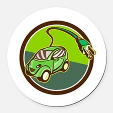 Plug-in Hybrid Electric Vehicle Circle Retro Round