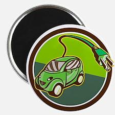 Plug-in Hybrid Electric Vehicle Circle Retro Magne