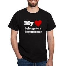 My Heart Belongs To A Dog Groomer T-Shirt