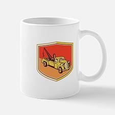 Vintage Tow Truck Wrecker Shield Retro Mugs