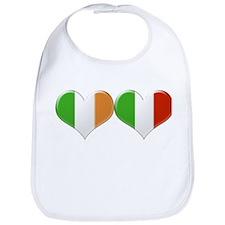 Irish and Italian Heart Flags Bib