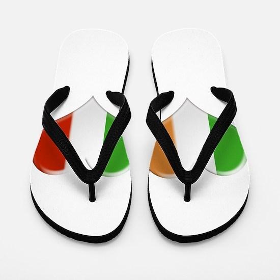 Irish and Italian Heart Flags Flip Flops