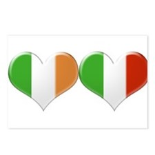 Irish and Italian Heart F Postcards (Package of 8)