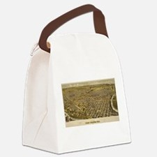 Vintage Pictorial Map of Fort Wor Canvas Lunch Bag