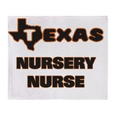 Texas Nursery Nurse Throw Blanket