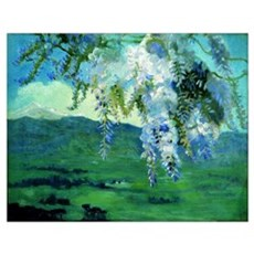 Kustodiev - Blooming Wisteria Poster