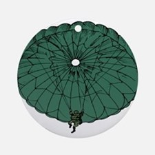 Paratrooper Coming Down Ornament (Round)