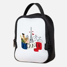 France Neoprene Lunch Bag