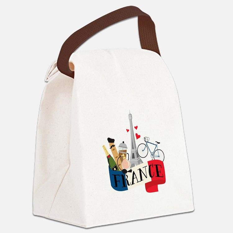 France Canvas Lunch Bag