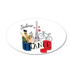 Jadore France Wall Decal