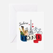 Jadore France Greeting Cards