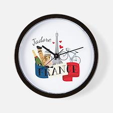 Jadore France Wall Clock