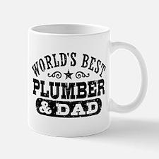 World's Best Plumber and Dad Mug
