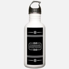 Black and White Nautic Water Bottle