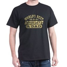 World's Best Accountant and Dad T-Shirt