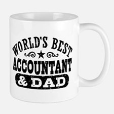 World's Best Accountant and Dad Mug
