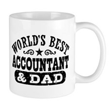 World's Best Accountant and Dad Small Mug