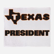 Texas President Throw Blanket