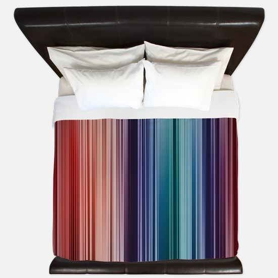 Deep Striped Pattern King Duvet