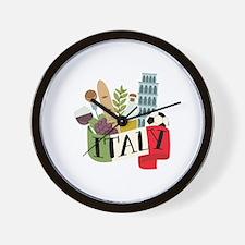 Italy 1 Wall Clock