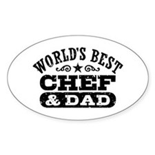 World's Best Chef and Dad Decal
