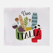 Viva Italia Throw Blanket