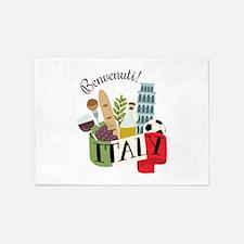 Benvenuti! Italy 5'x7'Area Rug