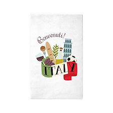 Benvenuti! Italy Area Rug